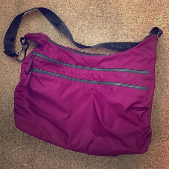 97e1ac0258 lululemon athletica Handbags - Lululemon On the Go Gym Bag in *RARE* purple  color